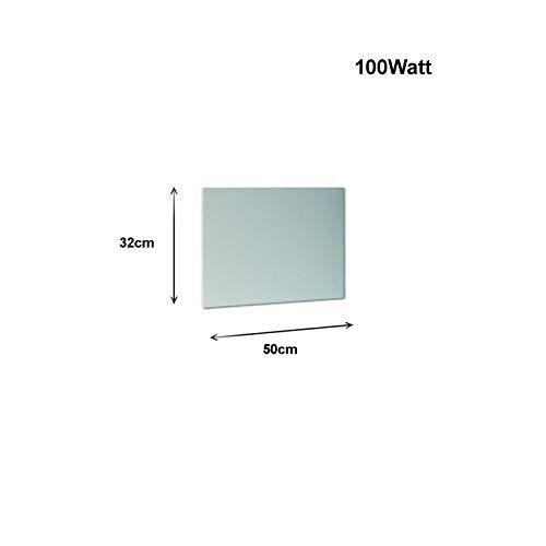 Infrarot Heizer 100Watt 50x32cm Weiße Heiz-paneel Elektroheizung Heizplatte