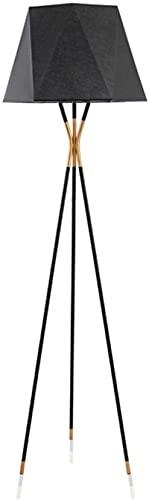 KFJZGZZ Lámpara de pie moderna trípode Foor lámpara en un acabado de metal cromado pulido lámpara de pie moderna luz de pie