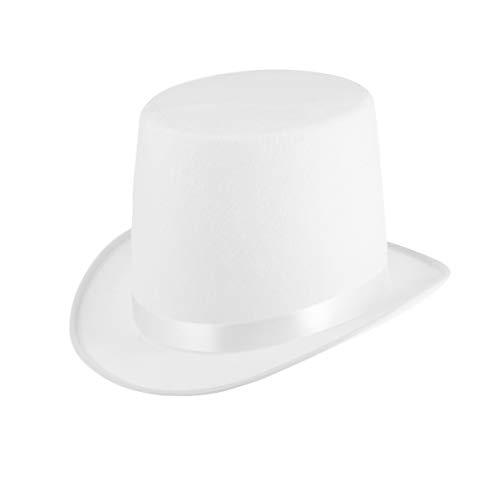 Amosfun Neuheit Zylinderhut Lincoln Hut Zauberer Hut Dress up Hut Kostüm Partyhut für Männer Frauen (weiß)