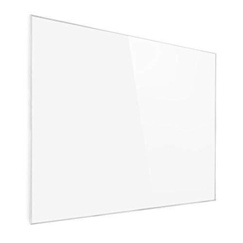 Klarstein Wonderwall Air - Calefactor bajo consumo panel, Panel radiante de cristal de carbono, Calefacción eléctrica bajo consumo sin ruidos, Detección ventana abierta, 120 x 100 cm, 1200 W, Floral