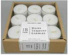 18ct Unscented Tea Lights Fresh El Paso Mall Ranking TOP1 White -