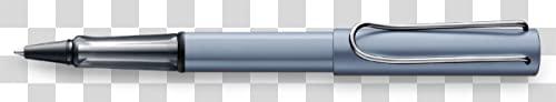 LAMY AL-star Tintenroller 338 – Praktischer Rollpen aus Aluminium in der Farbe Azure eloxiert mit transparentem Griffstück – Mit Tintenroller-Mine M 63 schwarz – Strichbreite M