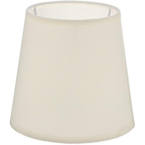 HRTX Pantalla, Cubierta de Tela para lámpara de Dormitorio, decoración del hogar para lámpara de Mesa E14, Accesorio de lámpara de Bulbo de Tornillo