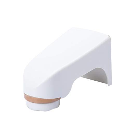 Garciasia Creative Dispensador de jabón con imán montado en la Pared Caja de jabón de Drenaje Caja de jabón de baño para el hogar Perforadora Gratuita (Color: Blanco)