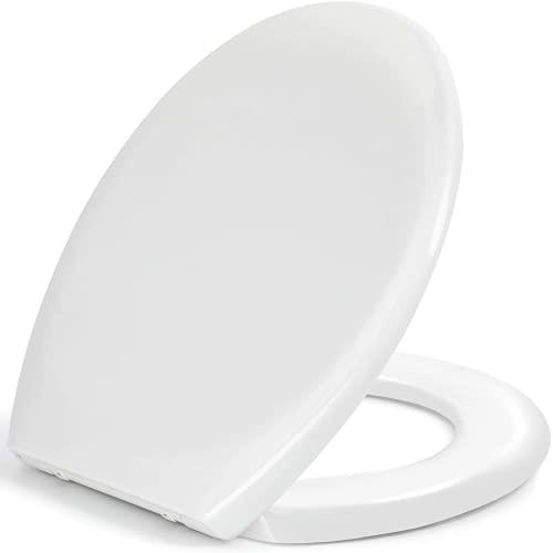 Sedile WC,Copriwater Universal,Coperchio Water Urea-Formaldeide Tavoletta WC con Chiusura...