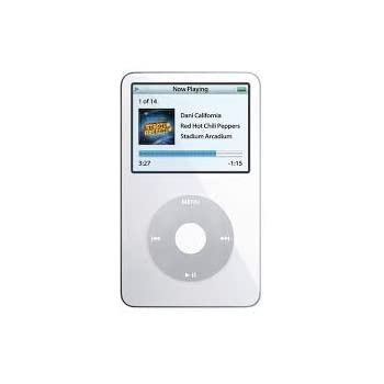 Amazon Com Apple Ipod Classic Video 60gb White 5th Generation Discontinued By Manufacturer Comes With Generic Ear Pods Wall Plug And Charging Wire Packaged In White Box Mp3 Players Accessories