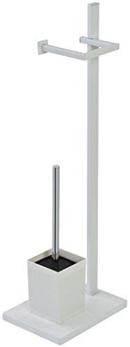 FERIDRAS 154038lámpara de pie Portarrollos y escobilla, Blanco, 18x 24x 73cm