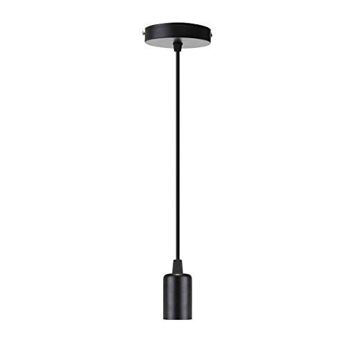 EIVOTOR Schnurpendel 1 Meter E27 Lampenfassung Aufhängung für Pendelleuchten DIY Lampe Zubehör Hängeleuchte Lampensockel Lampenschirme Deckenbeleuchtung Lampenaufhängung Antike Edison Hängelampes
