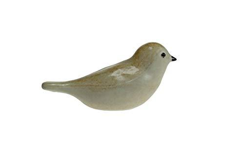 Urn/Mini Urn - Urn Vogel Keramiek Geel/Creme - Urn voor as - Urn Hond - Urn Kat - Urn Glasobject - Urn Kunst - As-Gedenkstuk