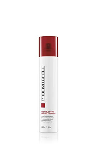 Paul Mitchell Hot Off The Press - Hitzeschutz-Spray für flexiblen Halt, Styling-Spray gegen Frizz in Salon-Qualität, parabenfrei, 200 ml