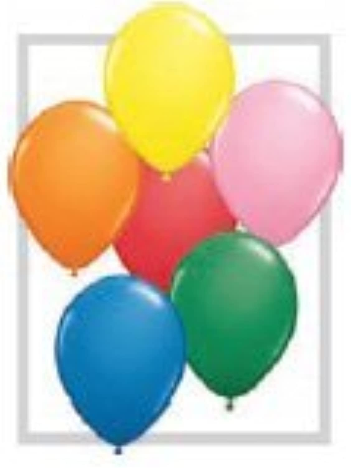 Single Source Party Supplies - Round 24  Standard Assortment Later Balloons - 5 Ct