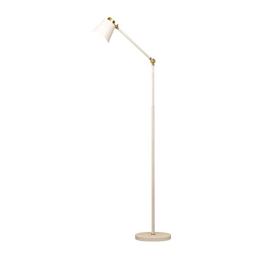 QTDH plafondschommel staande lamp leeslamp moderne LED vloerlamp met metalen voet voor kantoor, slaapkamer, woonkamer
