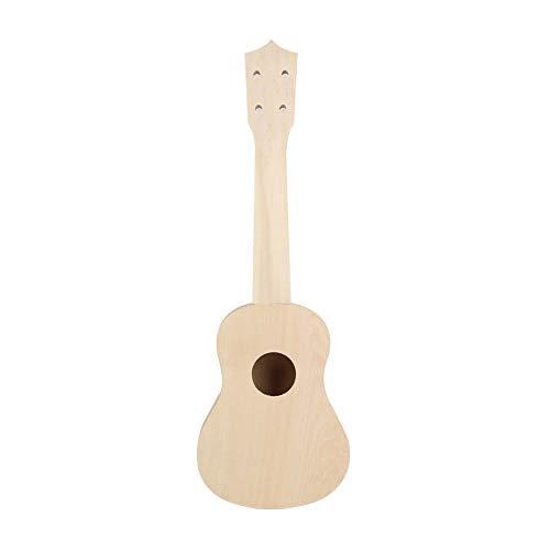 Xinzhi 21-Zoll-Ukulele, bemalte kleine Gitarre Diy Ukulele montiert aus Holz Ukulele Nude Piano-Paket für Babys, Kinder und Erwachsene