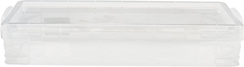 Super Stacker Pencil Box, 8.25 x 1.5 x 4 Inches, Clear, 1 Box (40309)