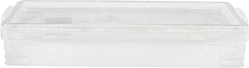 Advantus apilador Super caja de lápiz, Caja de lápices, Transparente, 8-1/4 L x 1-1/2 H x 4 W