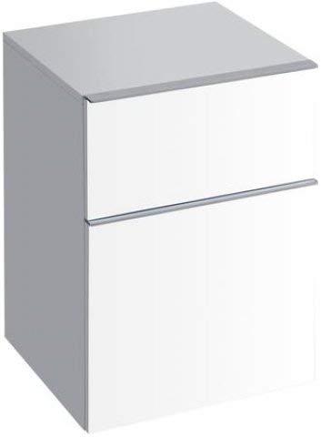 Preisvergleich Produktbild Keramag Geberit iCon Seitenschrank 450x600x477 mm,  mit Zwei Schubladen,  Farbe: weiß lackiert hochglänzend - 840045000