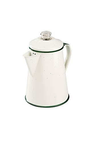 GSI Außen emailliert Percolator Kaffeekanne 8 Cup cremefarben