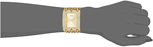 GUESS Women's Stainless Steel Quartz Watch with Stainless-Steel Strap, Gold, 46 (Model: U1275L2)