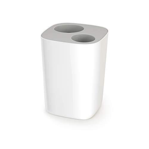 Joseph Joseph 70514 Split Trash Can Recycle Bin Dual Compartments Removable Bucket, 2 gallon/8 liter, Gray