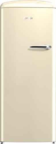 Gorenje ORB 153 C-L Kühlschrank mit Gefrierfach / A+++ / Höhe 154 cm / Kühlen: 229 L / Gefrieren: 25 L / Beige/ DynamicCooling-System / LED Beleuchtung / Oldtimer / Retro Collection