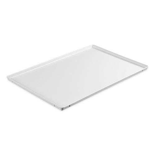 thermohauser Bandeja para servir de melamina, color blanco, 60,0 x 40,0 cm