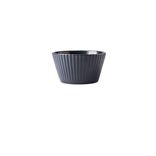 HAILI Tableware, Tazón de cerámica de cerámica Tazón muebles prácticos sopa de olla plato de ensalada de fruta Plato de Arroz oscuro Azul 12.6x7x9cm (Color: M) (Color : M)