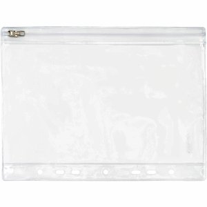 FolderSys 10 x Gleitverschlusstasche 210x156mm (Keine A5 Blätter) PVC mit Lochung klar