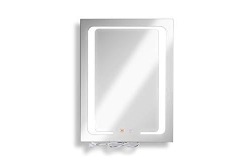 Anti-Beschlag Badezimmer Spiegel inkl. LED Beleuchtung - mit 5 Jahren Garantie (Anti-Beschlag Badspiegel)