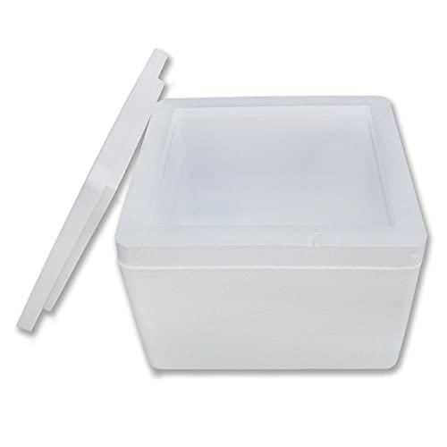 muyFrio - Caja Isotérmica | Nevera Portatil de Poliestireno Poliespan Porexpan Profesional Grande o Pequeña para el Transporte y Conservación de Alimentos, Bebidas, Congelados.
