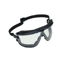 """3M 10078371623309 Goggle Gear Safety Goggles with Elastic Strap, 5"""" x 2"""" x 2"""", Black, 5"""" x 2"""" x 2"""""""