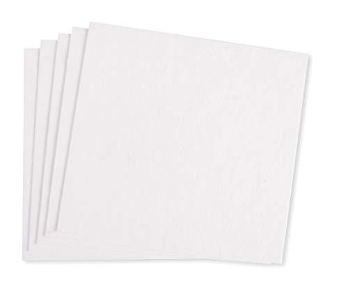 Rayher 67366102 Zellstoffplatten, weiß, 20x21cm, SB-Btl 5Stück