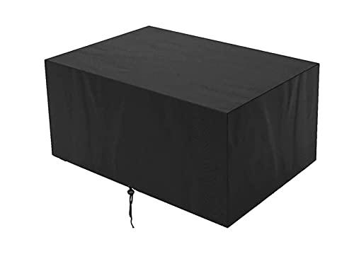 Cubierta para Muebles de jardín Cubierta para Muebles de Exterior 420D Tela Oxford de Alta Resistencia Cubierta Rectangular para Mesa de Patio Cubierta Impermeable para Muebles de Patio a Prueba de