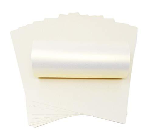 10x A4weiß mit Gold-schimmernden Glanz Perlglanz Papier 120g/m² Doppelseitig geeignet für Inkjet und Laser Drucker