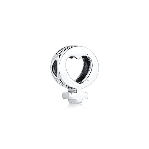 Pandora 925 Plata Símbolo Femenino Corazón Encanto Pulsera De Joyería Real Cuentas Para Mujeres Fabricación De Joyas Kralen Regalo Exquisito