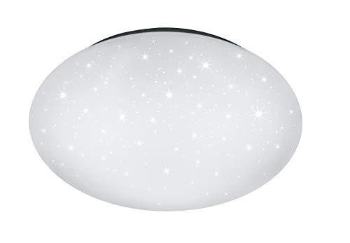 Reality Leuchten LED Deckenleuchte Lukida R62961000, Kunststoff weiß, inkl. 18 Watt LED, Fernbedienung, Starlight Effekt