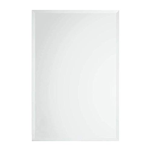MEMOLIN Frameless Wall-Mounted Mirror Better Bevel Large Simple Rectangular Streamlined with 1 -
