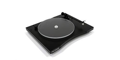New Horizon 101 nero giradischi a telaio rigido testina MM AudioTechnica AT-360 completo di cappa parapolvere in plexiglass trasparente