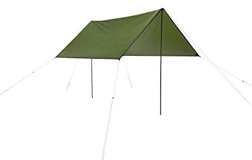 Grand Canyon Shelter Zuni 3 - Tarp/Sonnensegel 300 x 300 cm - Quadratische Form, UV50+, Wasserdicht - Capulet Olive (Grün)