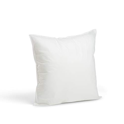 "Foamily Premium Hypoallergenic Stuffer Pillow Insert Sham Square Form Polyester, 16"" L X 16"" W, Standard/White"