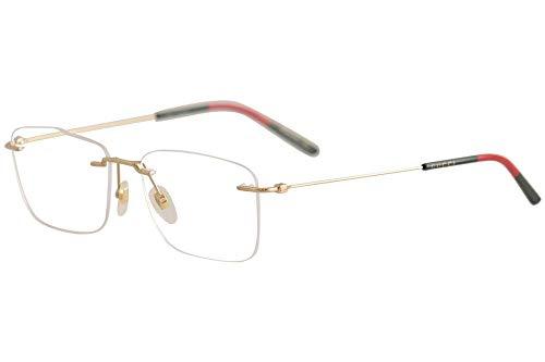 Gucci GG 0399O 002 Light Gold Metal Rimless Eyeglasses 56mm