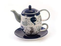 Cha Cult Tea for one Set Barney Keramik, 4-teilig Kanne: 0,4 l, Tasse: 0,2 l