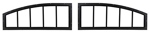 """Arched Shed Transom Windows for Shed Doors 29"""" Set of 2 Windows Brown"""