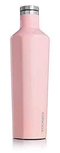 Waterfles van Corkcicle uit de collectie Canteen, drievoudig geïsoleerde thermoskan, lek- en onbreekbaar, van roestvrij staal, roestvrij staal, rozenkwarts, Large