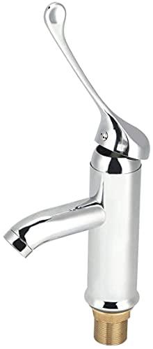 Grifo de Agua Grifo de Agua fría Caliente Mango Largo Tipo Vertical Encimera Fregadero de Cocina Grifo Filtro de Agua Sistema de filtración Herramienta para Uso hospitalario