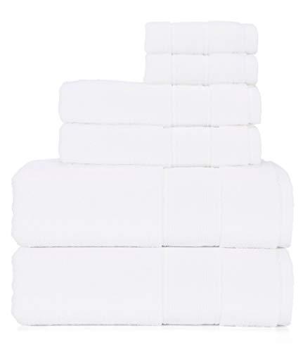 Ralph Lauren Sanders Handtuch-Set, 6-teilig, Weiß, 2 Badetücher, 2 Handtücher, 2 Waschlappen