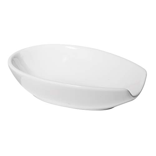 Oggi 5429.1 Ceramic Spoon Rest, White