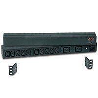 APC Rack Mount PDU, Basic 120V-240V/16A, (12) Outlets, 1U Horizontal Rackmount (AP9559)