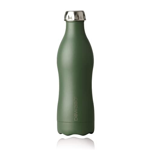 DOWABO Borraccia termica in acciaio inox senza BPA, bottiglia antigoccia e antigoccia, eccellente isolamento, con bottiglia e supporto per bottiglia, 500 ml