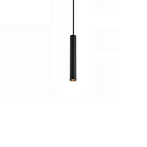 Naiyn Lámpara Colgante de Techo de Tubo Largo Candelabro LED Altura Ajustable Barra de Barra Foco cilíndrico Simplicidad Lámpara Colgante Accesorio de iluminación para Isla de Cocina
