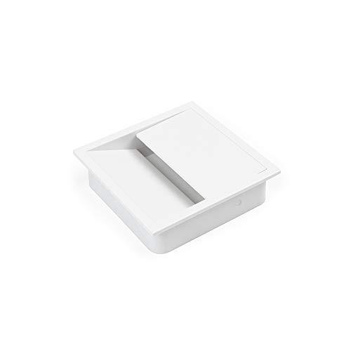 Emuca - Tapa pasacables para encastrar en escritorio/mesa, organizador de cables para...